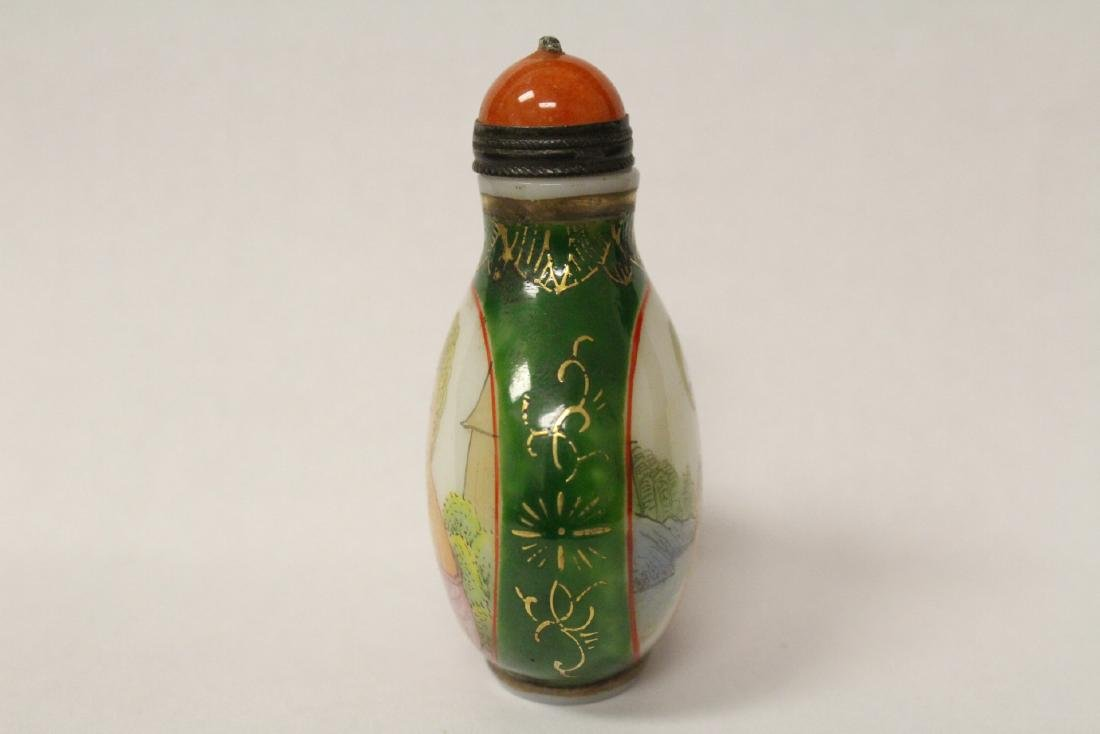 Chinese enamel on Peking glass snuff bottle - 4