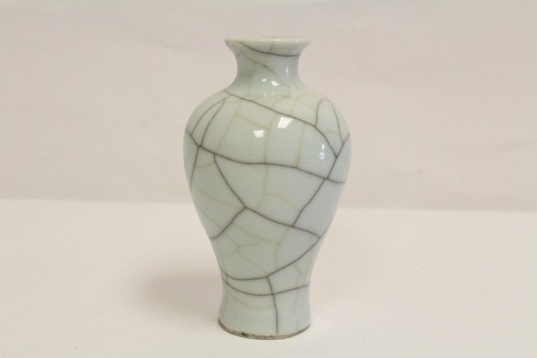 Chinese Song style crackle porcelain vase