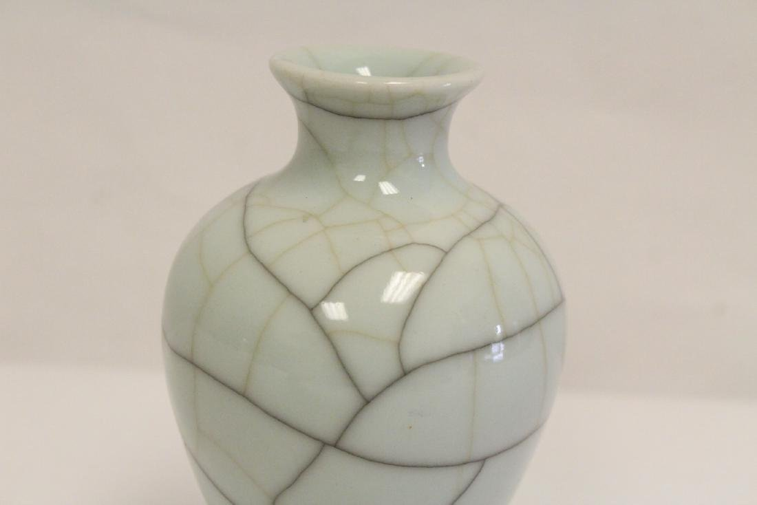 Chinese Song style crackle porcelain vase - 6