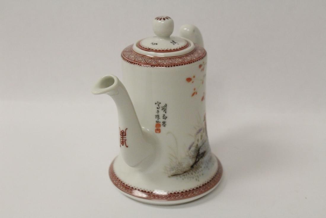 Chinese famille rose porcelain teapot - 2