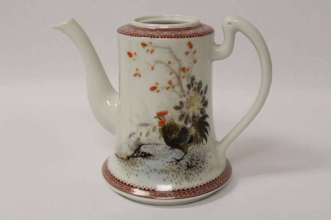 Chinese famille rose porcelain teapot - 6