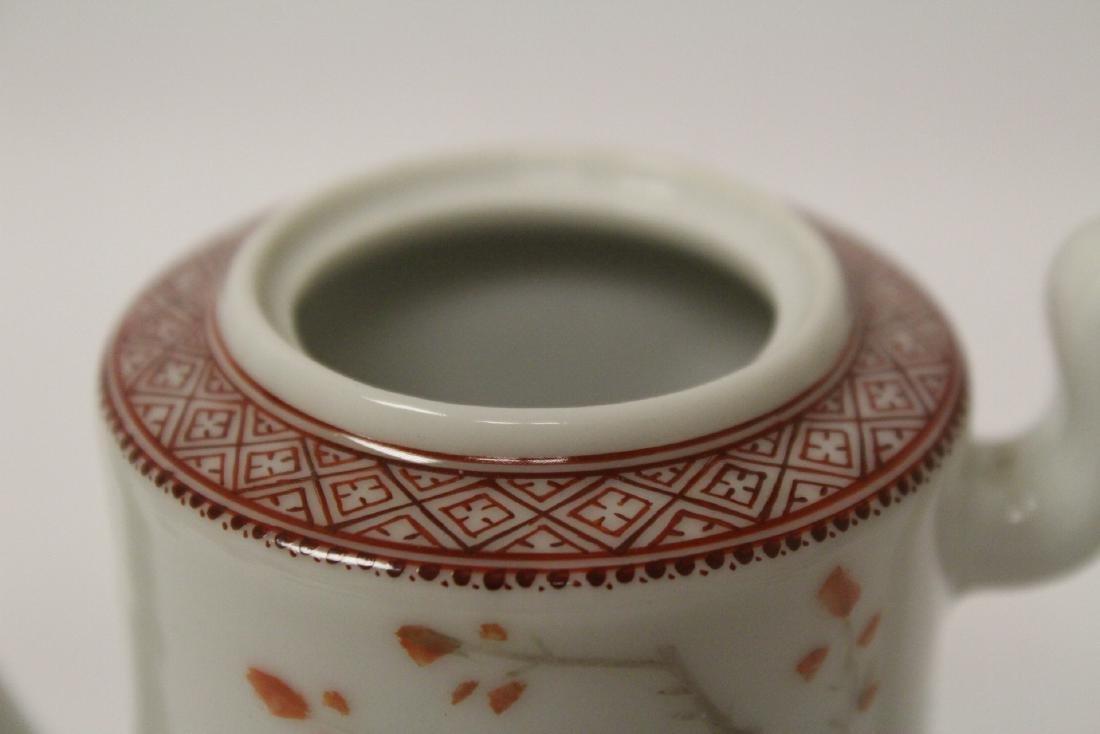 Chinese famille rose porcelain teapot - 9