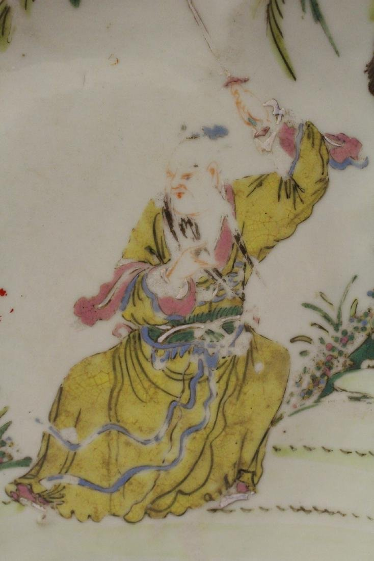 Chinese antique famille rose porcelain stem plate - 7