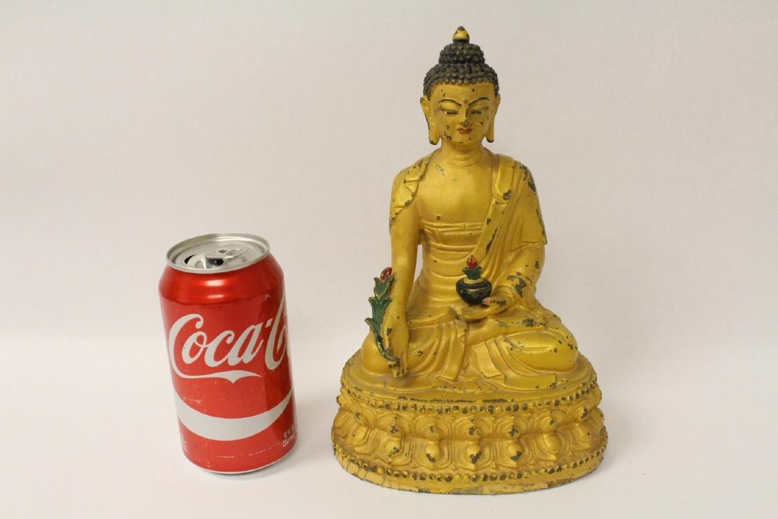 Chinese bronze sculpture of seated Buddha