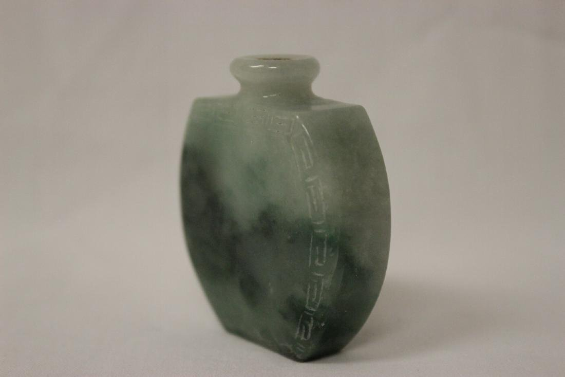 Chinese jadeite carved snuff bottle - 3