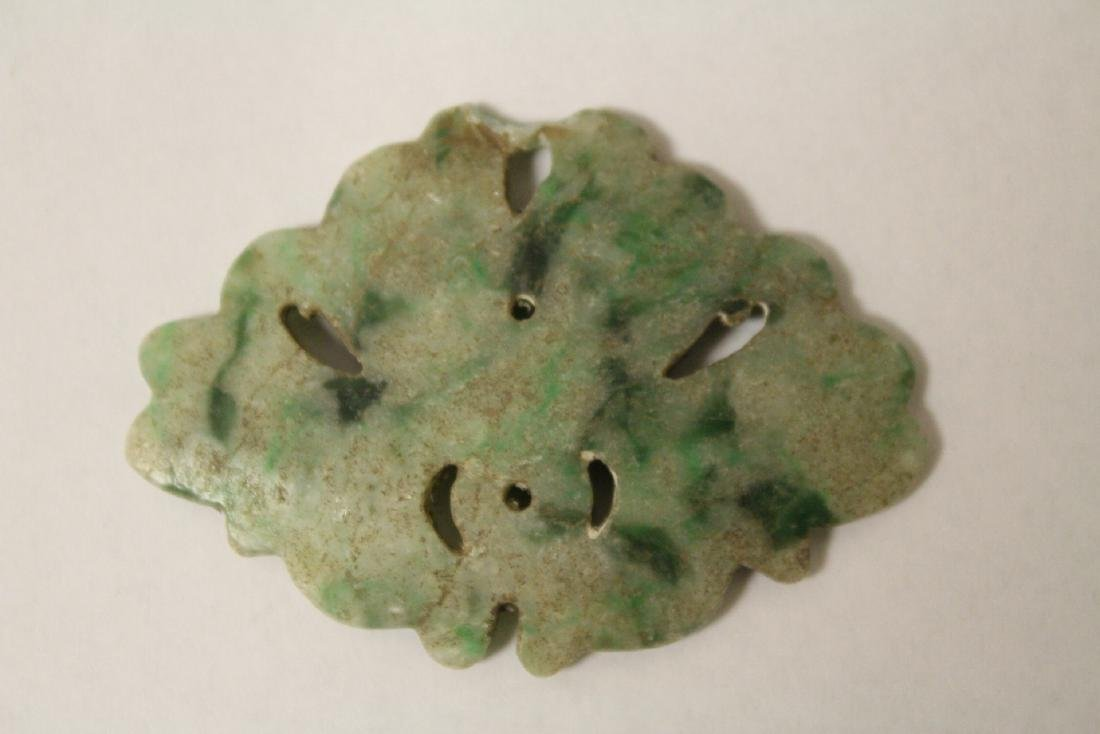 Chinese jadeite carving and a dzi bead style bead - 3