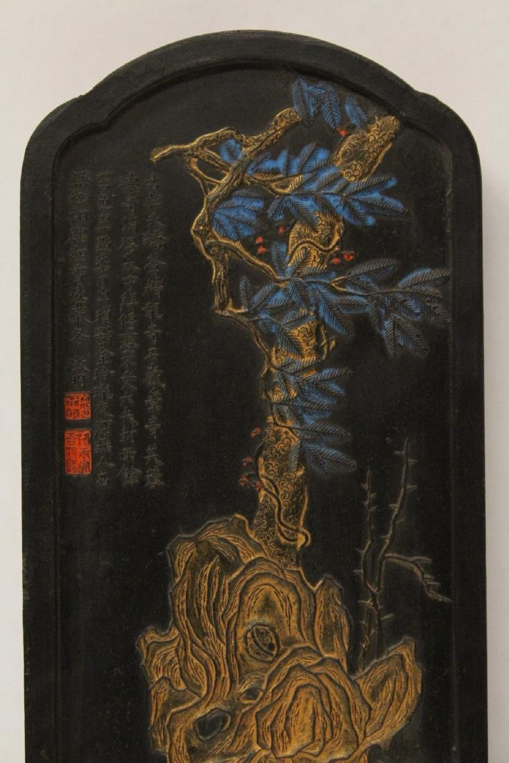A large Chinese ink stick - 3