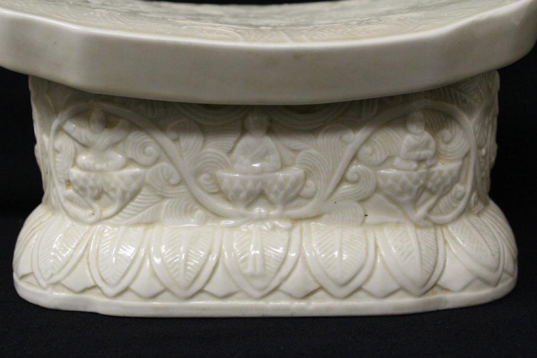 Chinese Song style white porcelain pillow - 2