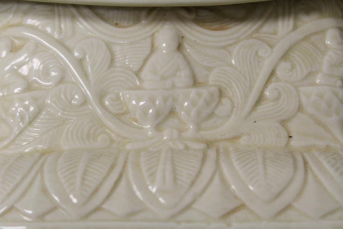 Chinese Song style white porcelain pillow - 3