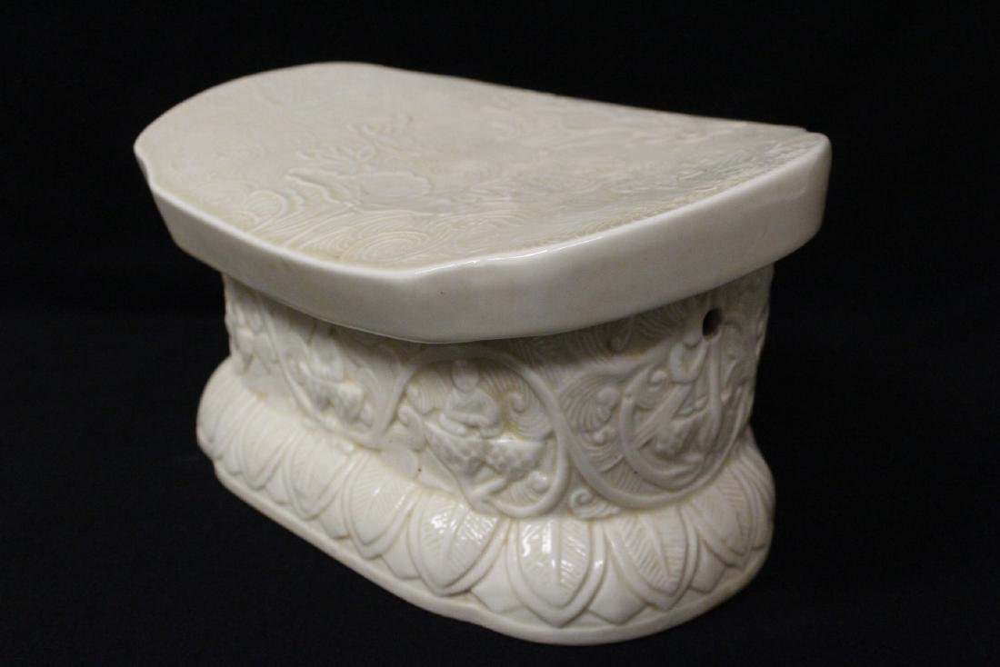 Chinese Song style white porcelain pillow - 5