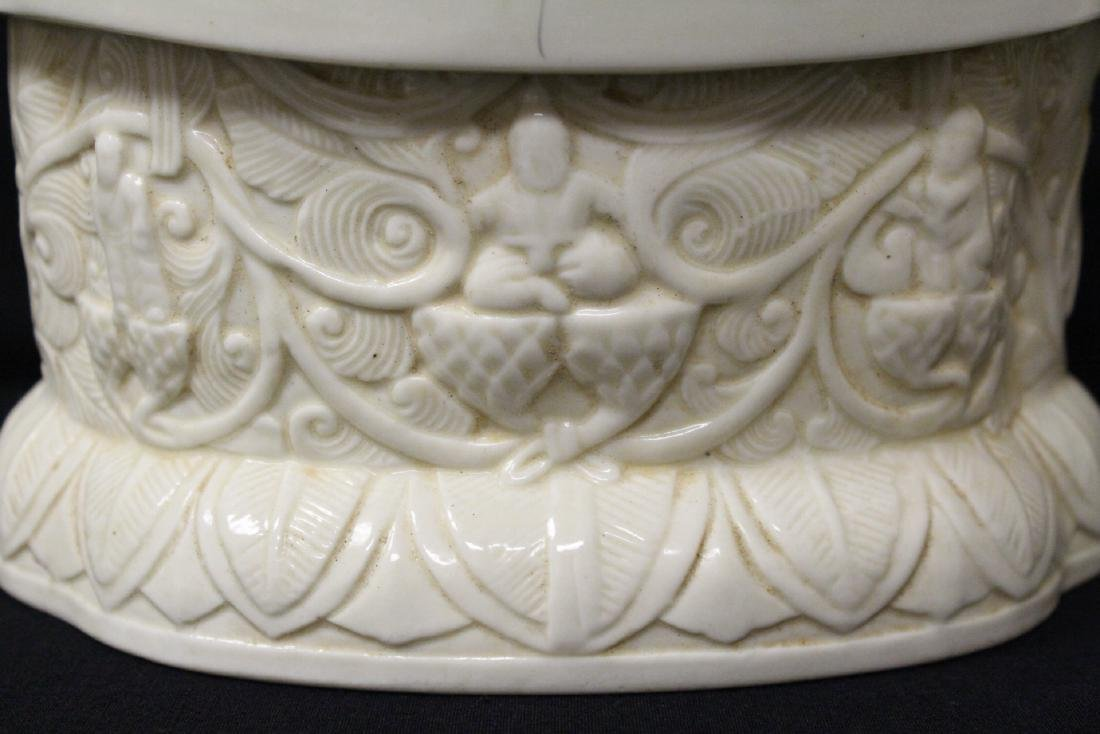 Chinese Song style white porcelain pillow - 8