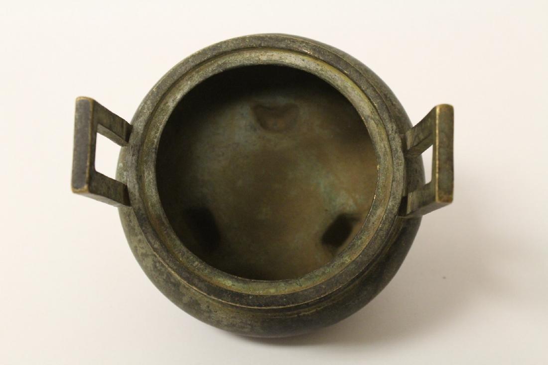 Chinese bronze covered censer - 7