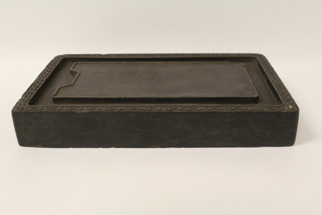 A large Chinese stone carved inkwell