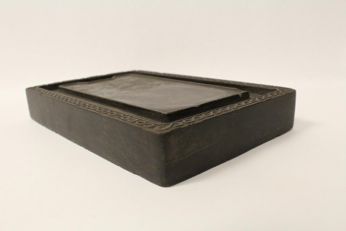 A large Chinese stone carved inkwell - 2