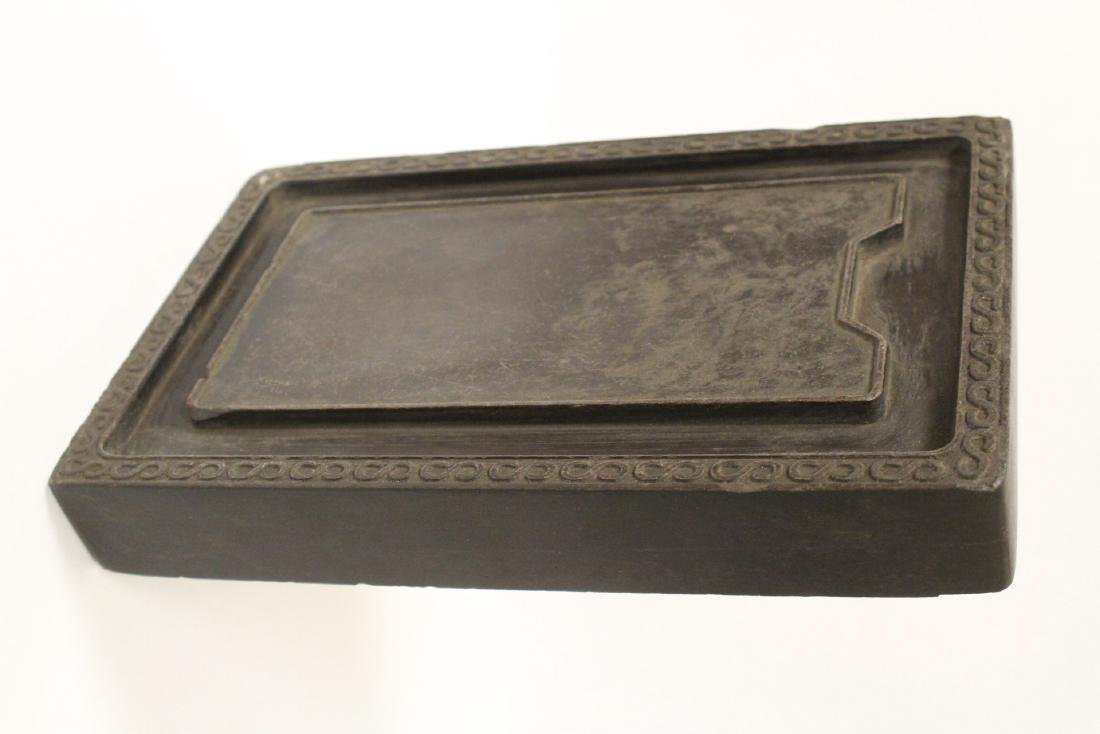 A large Chinese stone carved inkwell - 7