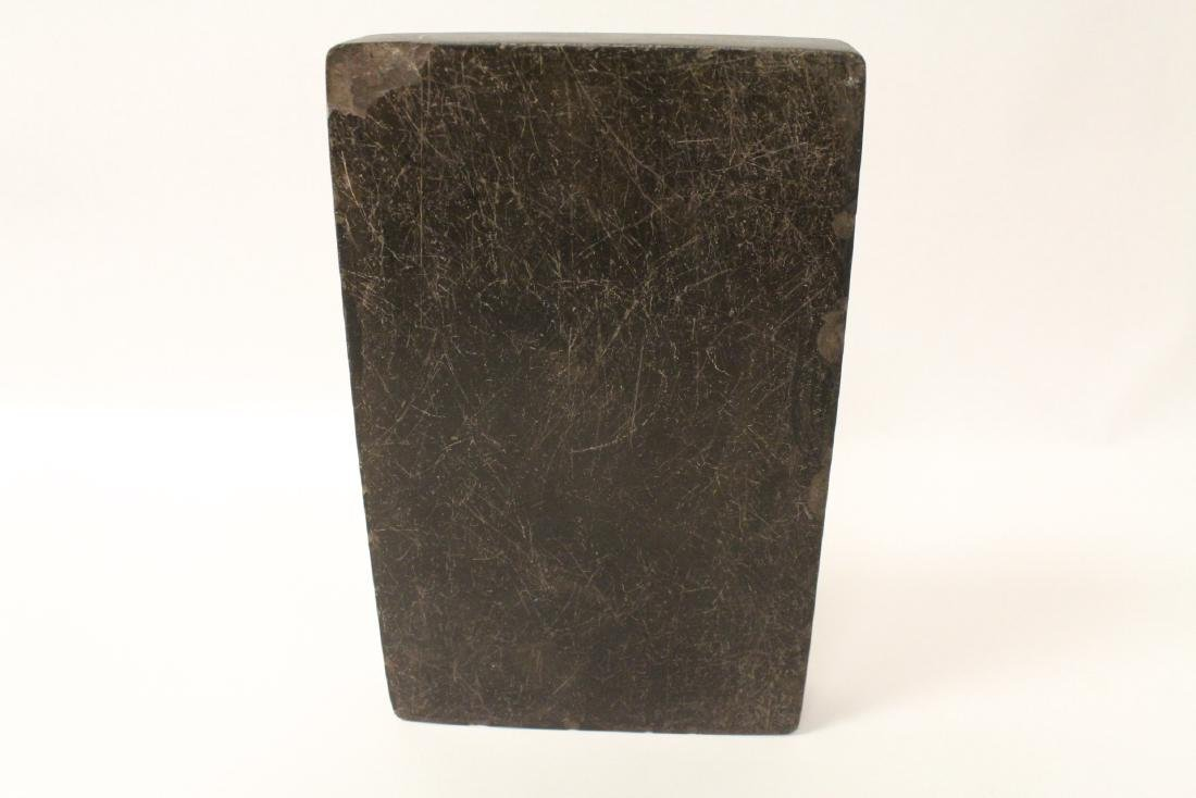 A large Chinese stone carved inkwell - 9