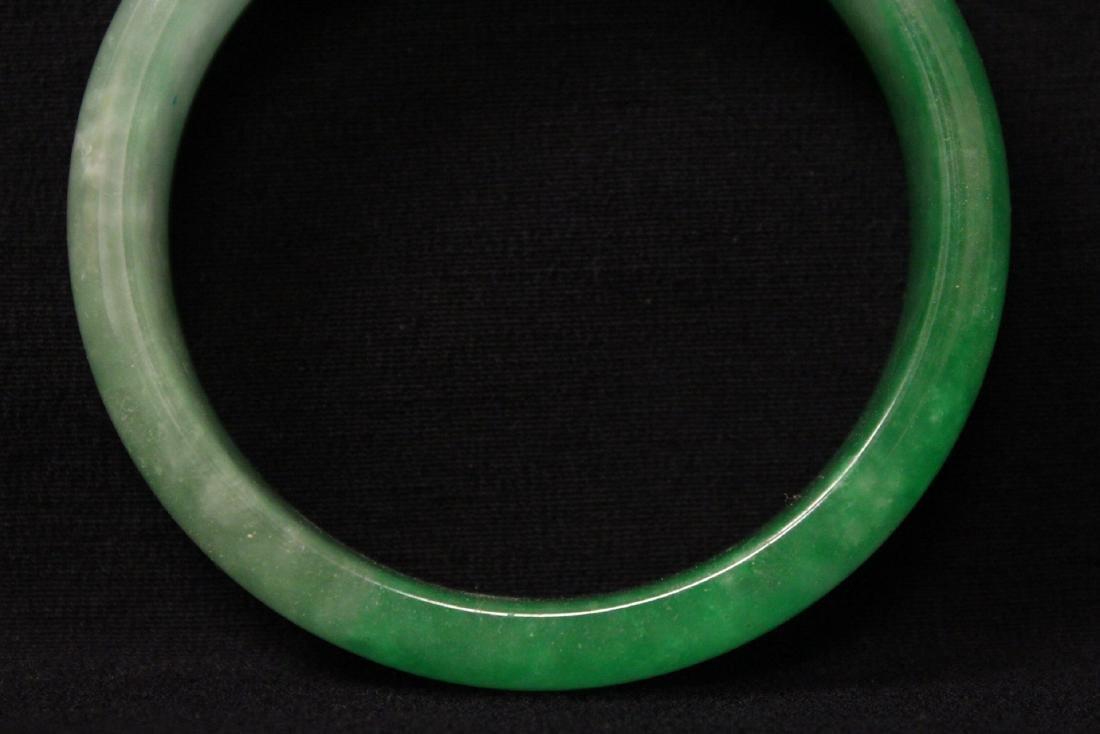 Chinese jadeite like bangle bracelet - 2