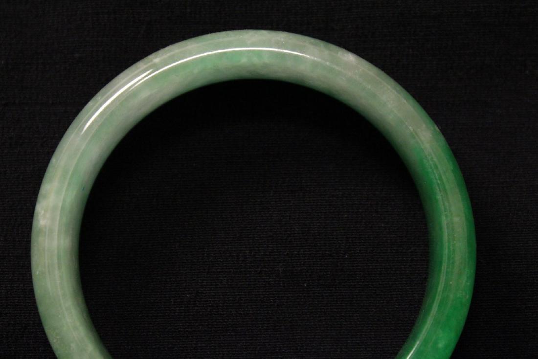 Chinese jadeite like bangle bracelet - 3
