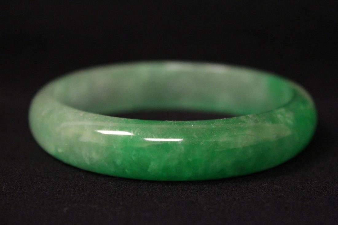 Chinese jadeite like bangle bracelet - 4
