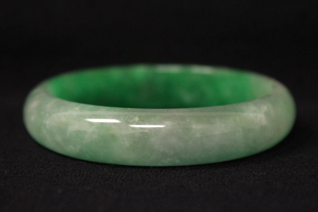 Chinese jadeite like bangle bracelet - 6
