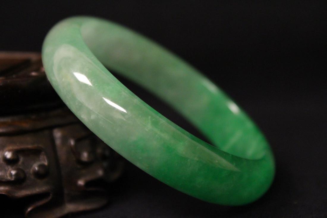 Chinese jadeite like bangle bracelet - 8