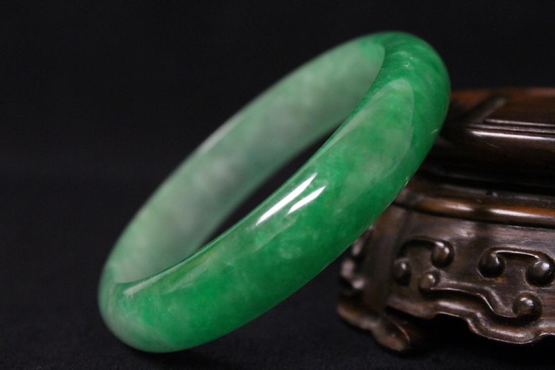 Chinese jadeite like bangle bracelet - 9