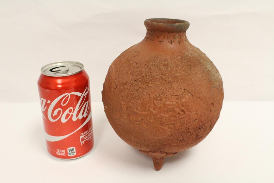 Antique Chinese red clay pottery jar - 10