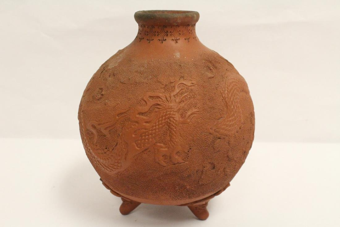 Antique Chinese red clay pottery jar - 7