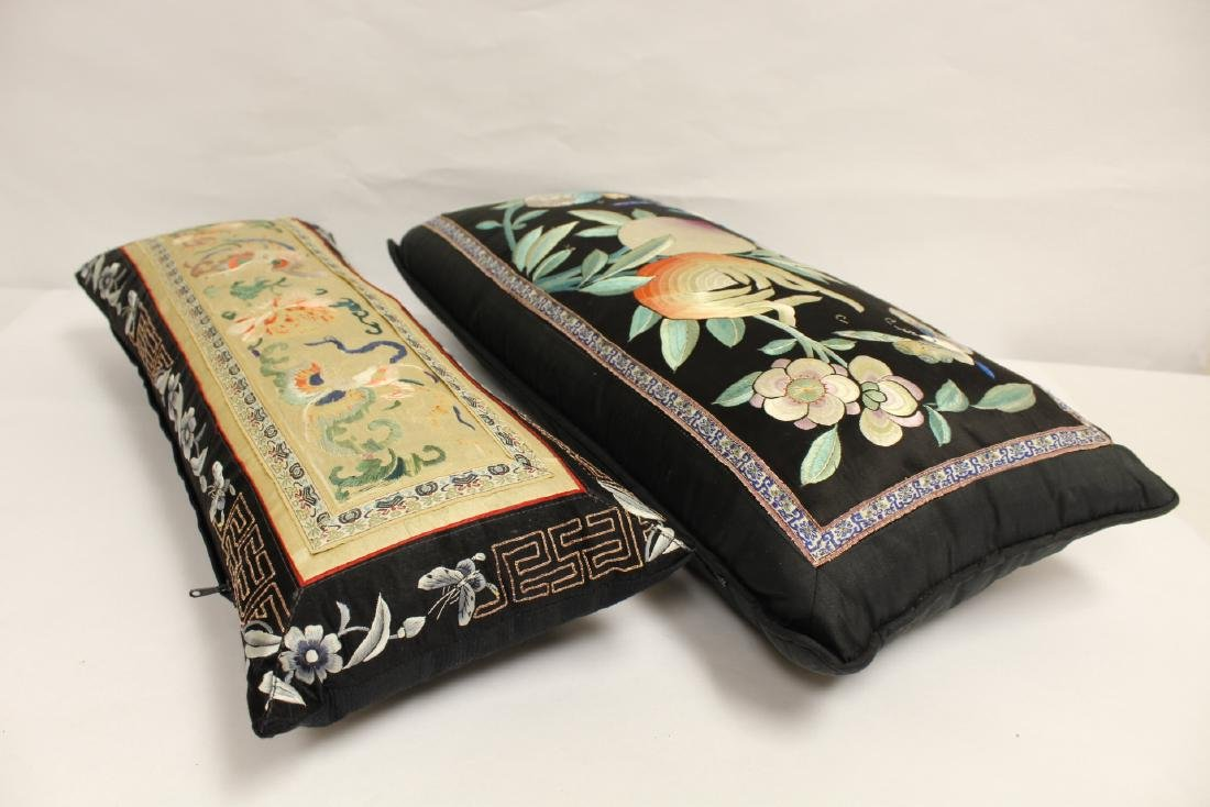 2 Chinese embroidery pillows - 10