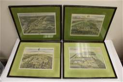 4 etchings by Johannes Kip, signed