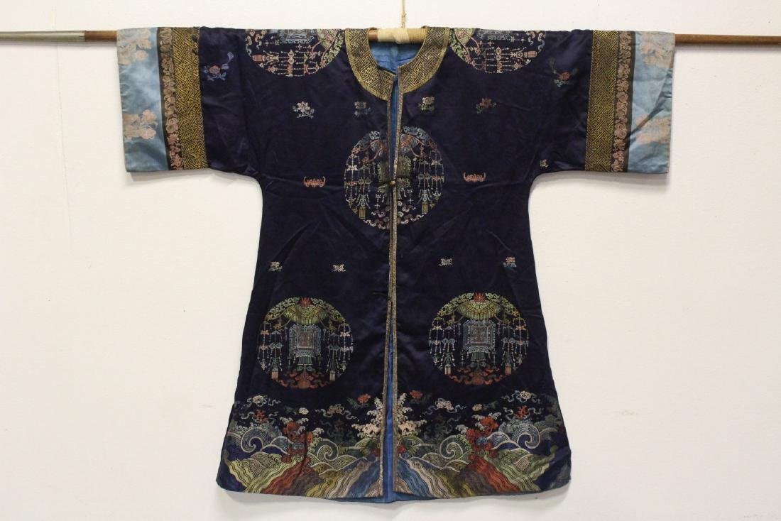 A rare Chinese antique imperial kesi robe