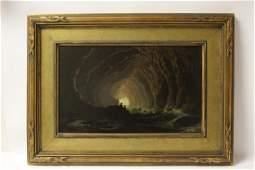 Oil on panel, signed T. Moran