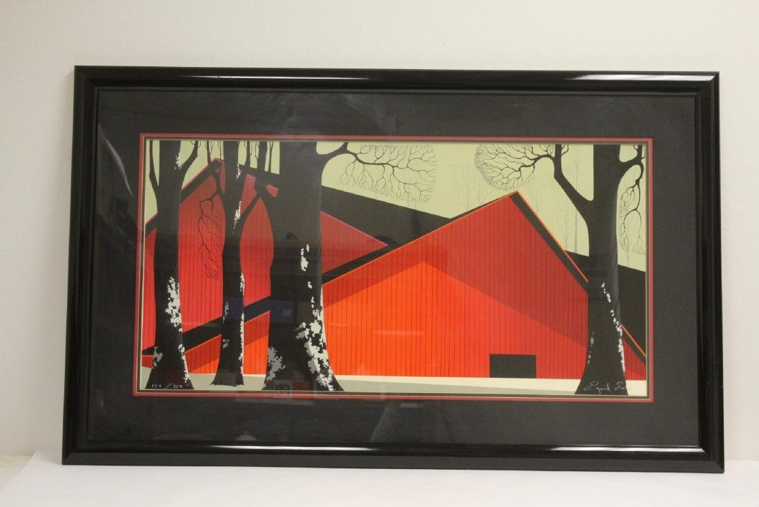 Signed and numbered etching by Eyvind Earle