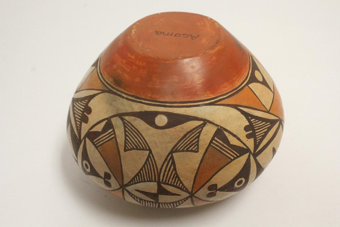 Antique American Acoma Indian pottery jar - 10