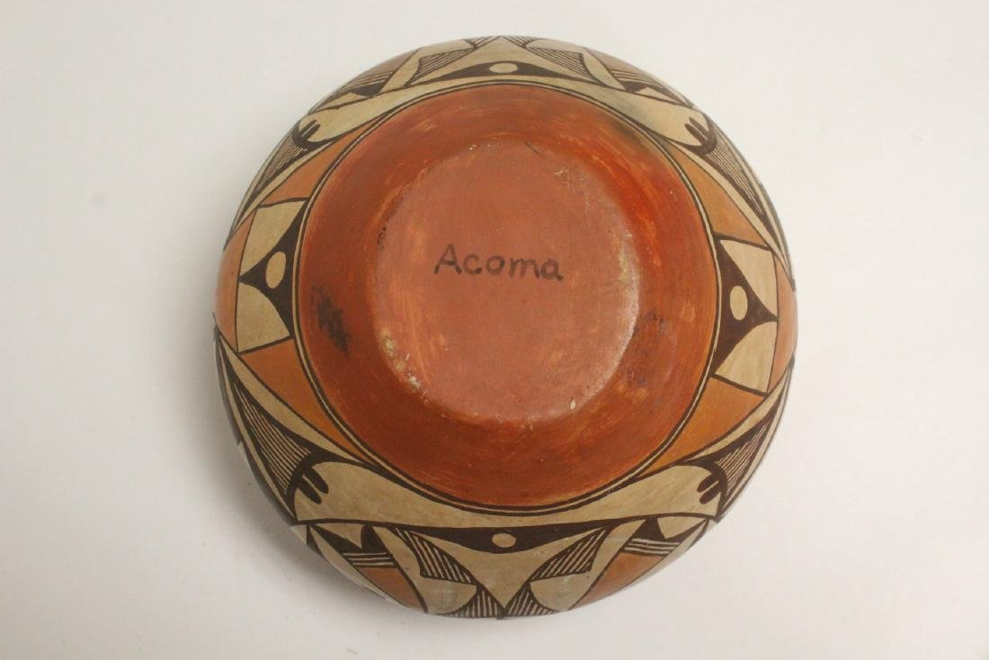Antique American Acoma Indian pottery jar - 8