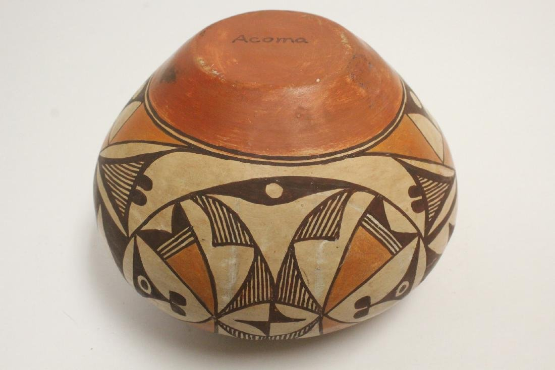 Antique American Acoma Indian pottery jar - 9