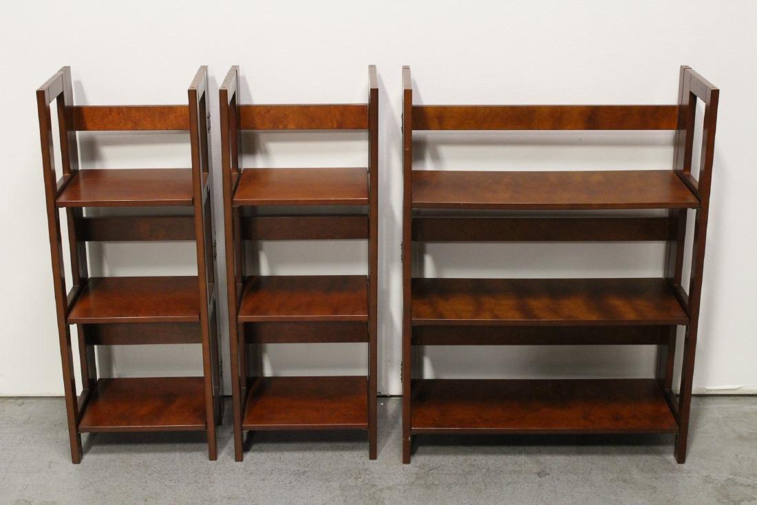 3 folding shelves