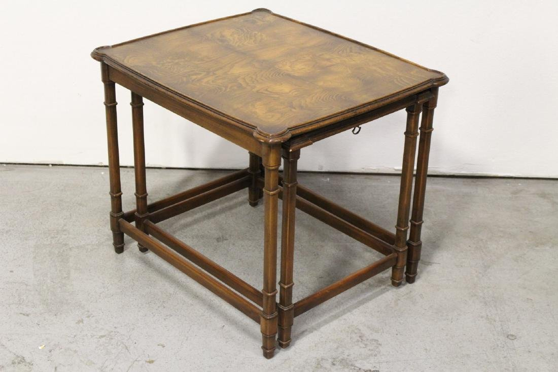 2 beautiful walnut stackable tables - 5