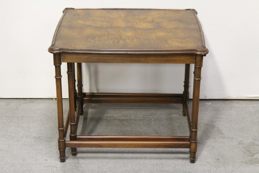 2 beautiful walnut stackable tables - 6