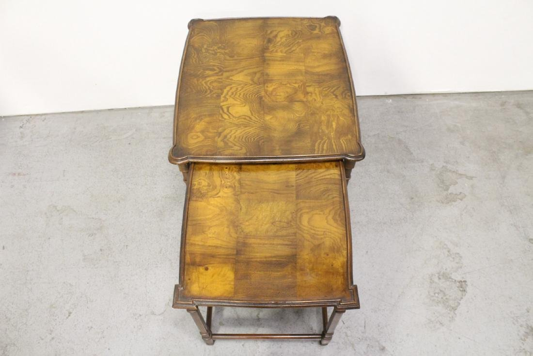 2 beautiful walnut stackable tables - 8