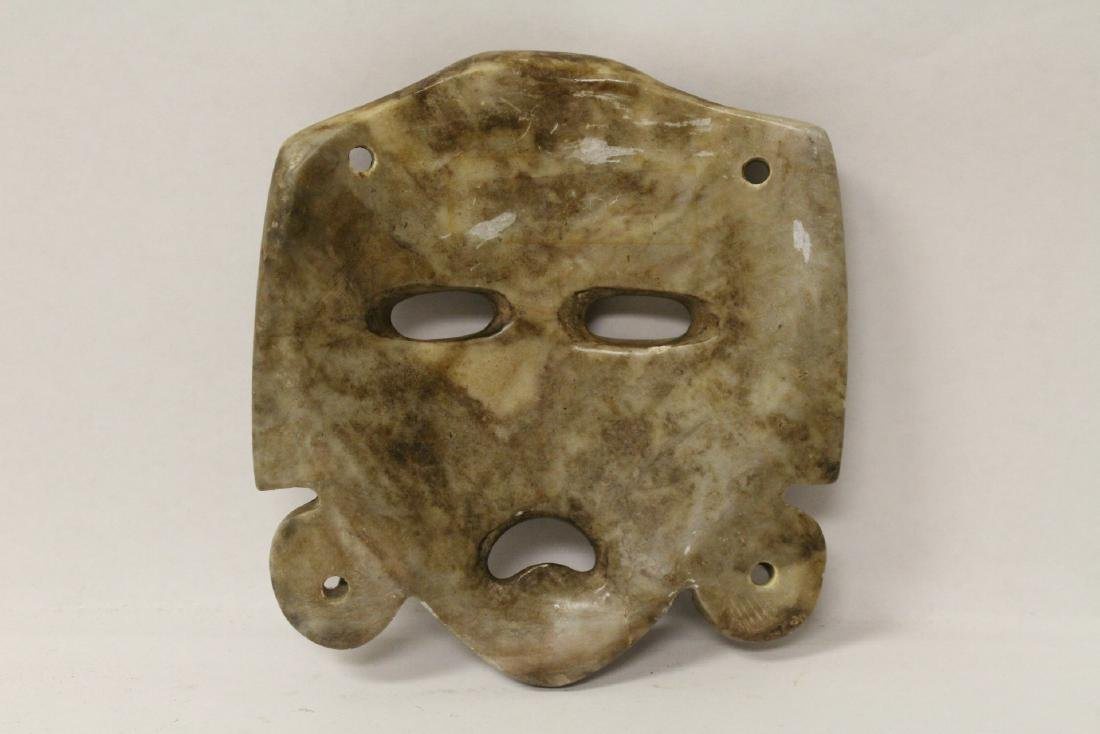 3 masks; 2 stone carved and one casted(?) - 10