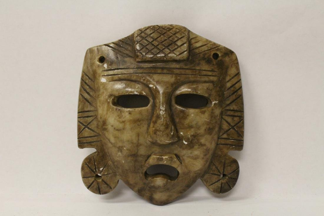 3 masks; 2 stone carved and one casted(?) - 8