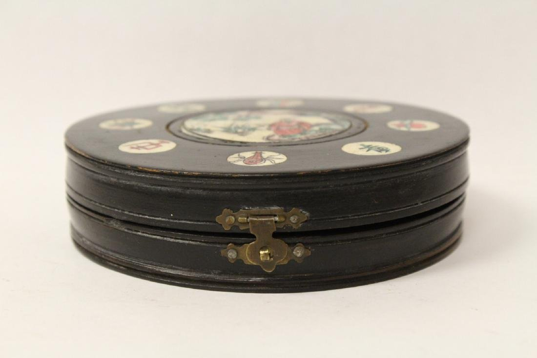 Chinese antique enamel box & a box with compass - 6