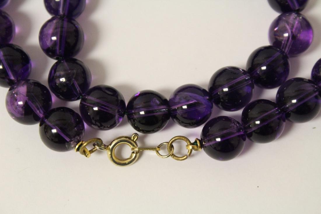 2 amethyst necklaces - 10