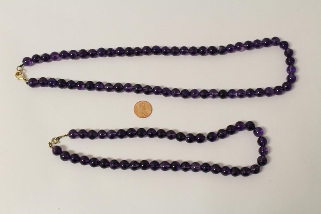 2 amethyst necklaces