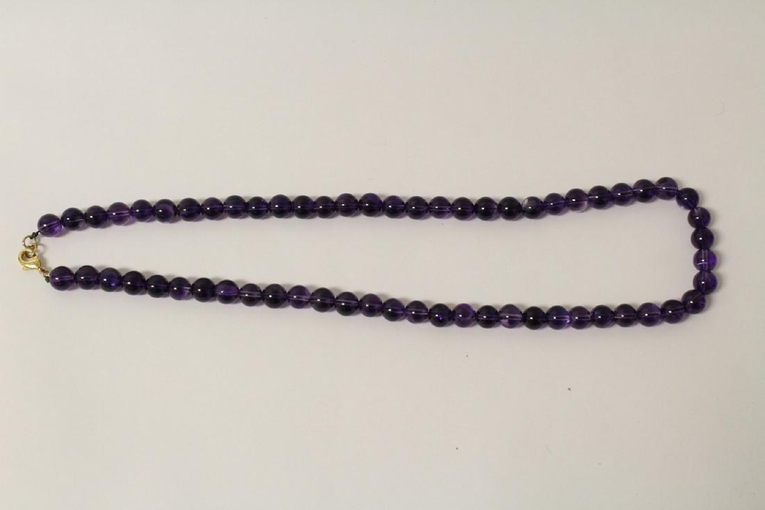 2 amethyst necklaces - 2