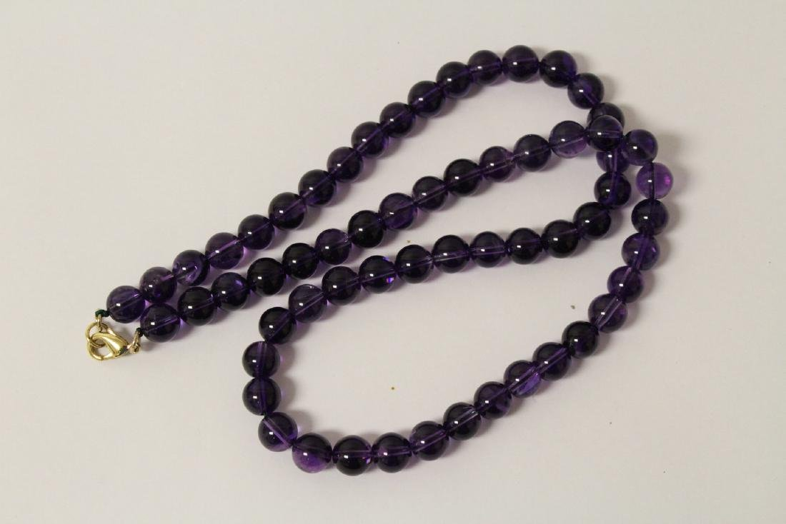 2 amethyst necklaces - 3