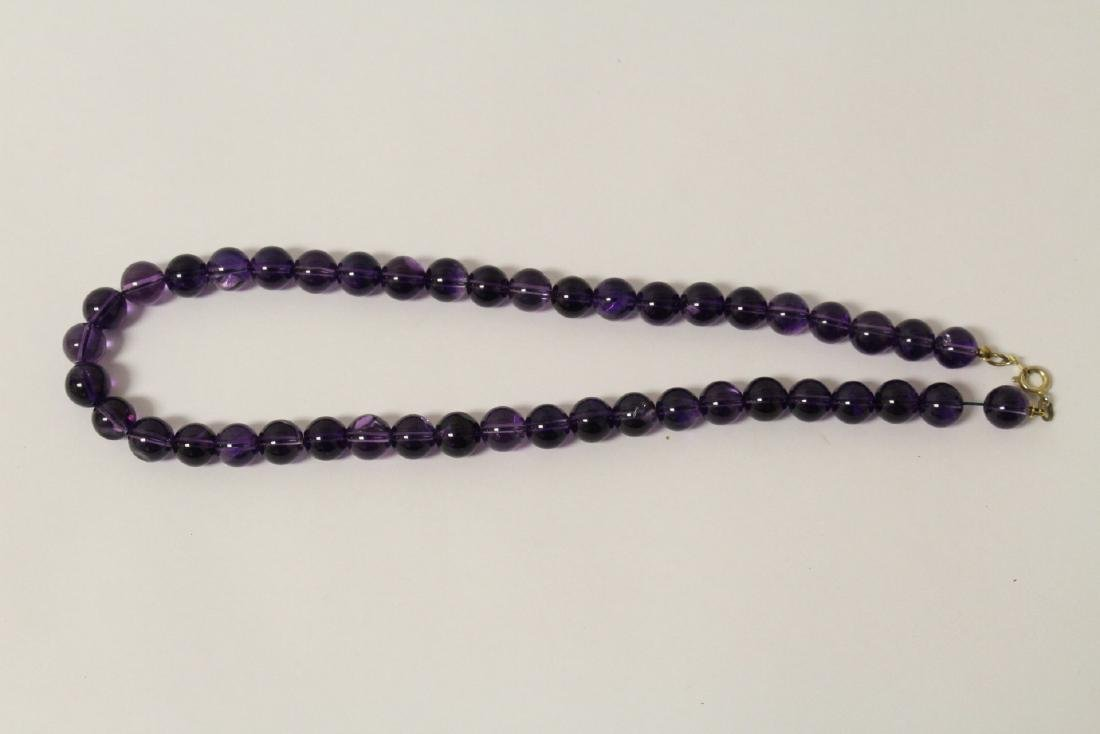 2 amethyst necklaces - 6