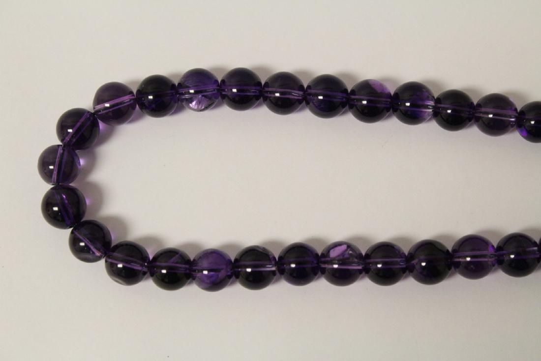 2 amethyst necklaces - 7