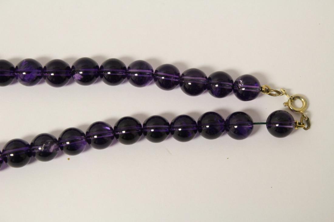 2 amethyst necklaces - 8